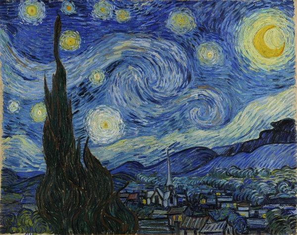 Ciclabile di Van Gogh: Notte Stellata
