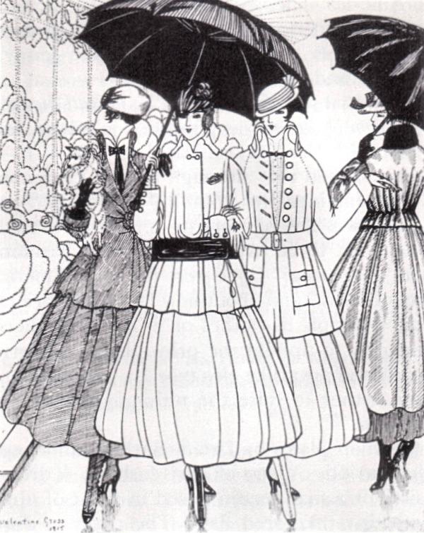 Gazette du Bon Ton, modelli Lanvin 1915