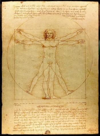 Leonardo a Milano: Uomo vitruviano (Foto: Wikipedia)