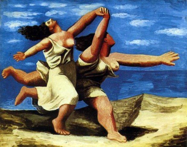 Due Donne Che Corrono Sulla Spiaggia Di Pablo Picasso